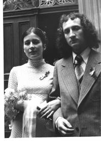Ivan getting married to Eva Pavlíčková, Prague 1978