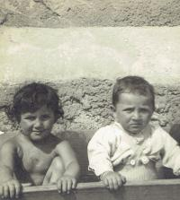Ivan with his sister Zdena, Prague 1950