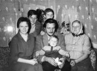 Rodina Císařovských v roce 1963
