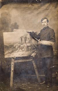Dědeček pamětníka, legionář Josef Charvát, rok 1916