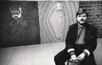 Pamětník na vernisáži, rok 1988