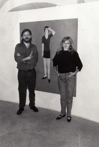 S manželkou Erikou Bornovou, 90. léta