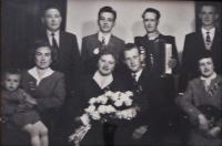 Bartoš´ wedding in 1960