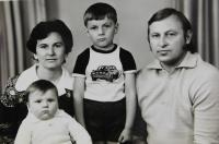 Bohdan Shevchuk with his wife Halina and children Andrei and Alexei