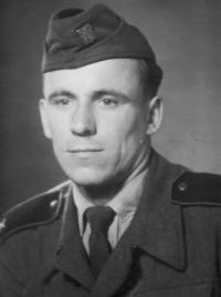 Brother Rudolf Hadwiger in the army in 1954-1956