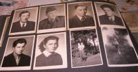 Photographs of family members at the top left-father Wilhelm + siblings