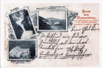 Nýznerov waterfall, inn and mill - 1899