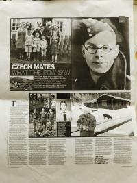 Article in a British newspaper on an English prisoner, Chris Ayres, who worked in a capture camp in Nýznerov during the war