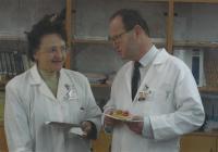 Blanka Brůnová in the Motol hospital, Prague, photo from the celebration of her birthday