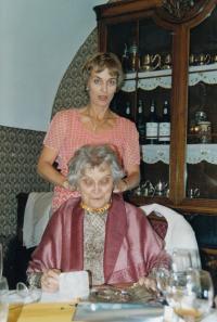 Wife Frieda and daughter Erika