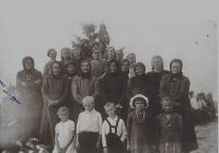 A group of women and children, who survived burning out of Czech Malin