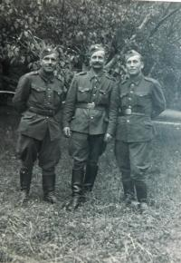 Amid father Josef Simek in the Czechoslovak Army Corps in 1944
