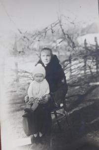 Božena Palková (mother) with her son Jaroslav