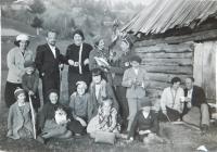 Czechs in the village Bohdan in Carpathian Ruthenia
