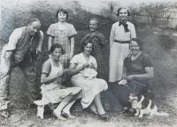 Wives of members of the financial guard in the village Bohdan in Carpathian Ruthenia