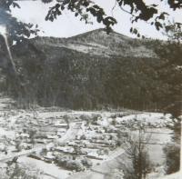 The village Bohdan in Carpathian Ruthenia