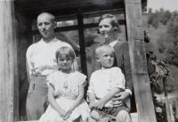 Family of policeman Mr. Papež in the village Bohdan in Carpathian Ruthenia