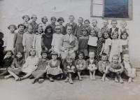 Pupils of the Czech elementary school in the village Bohdan in Carpathian Ruthenia
