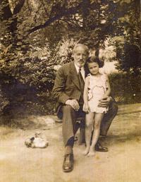 With grandpa, 1931