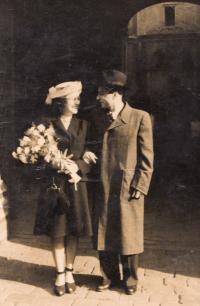Wedding with Otto Immerglück, Prague 1947