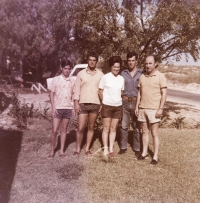 With husband and sons--Michmoret 1971