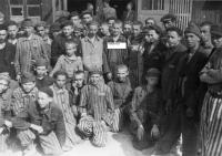 Buchenwald inmates after camp liberation