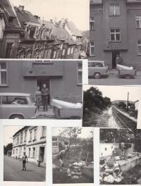 Koláž rodinného domu Havelkových ve Śtefánikově ulici