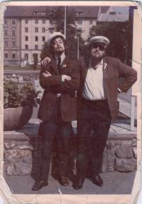 Before leaving to Moscow 1969. Left: colleague Jiri Kaiser, right: A. Dohalsky