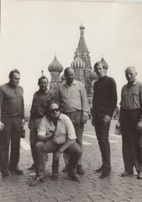 Moscow 1969, trip with Karlin theatre from Prague. Dohalsky sitting.