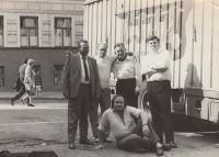 Moscow 1969, trip with Karlin theatre from Prague. Dohalsky down