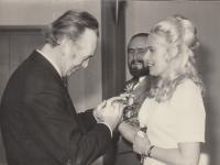 Wedding of the witness and Iva Kotkova in 1974