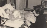 Granmother Gabriela Kinsky Thurn - Taxis just before dying in Kremsegg cca 1970