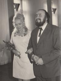 Wedding of Antonin Borek - Dohalsky and Iva Kotkova in 1974