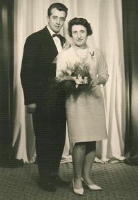 Wedding photo, Děčín 1965