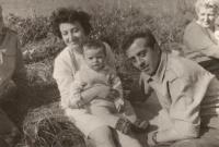Family  - with the husband and son Karel on a trip, 1967