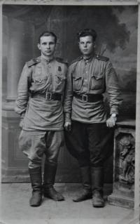 Russian soldiers at a photo, which they left to the family of Irena Ondruchová in May 1945 as a reminder