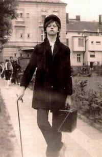 Ivo Mludek v době studia na Střední ekonomické škole v Opavě / asi 1981