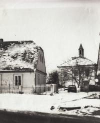 Rectory and old school in Libenice, 1983