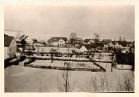 The homestead of Family Pache in Groß Krosse (Velká Kraš) - on the right