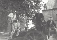 With the band in Königstein in 1970s