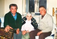 M. Hrubý with his mother and brother Jaroslav