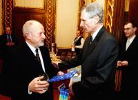 with Slovakian ambassador Vladimir Bellek, Jicinsky left