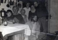 Zdeněk Jelínek with Ladislav Lis family