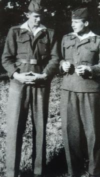 As a soldier (right), Kostelec nad Orlicí, 1959