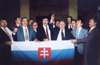 Slovak national party after voting on dissolution of Czechoslovakia