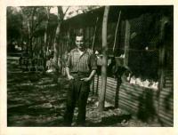 Bohuš working on a chicken farm, Perth 1954