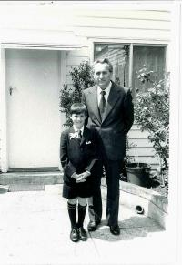 Bohuš with his son Roger, The Holy Communion Day, Melbourne 1974
