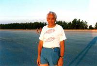 Bohuš on a trip to Darwin with his son George, 1988
