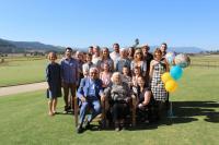 Bohuš with his family celebrating his 90th birthday, Melbourne 2017