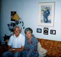 Bohuš with his sister Zdenka, Brno 1992
